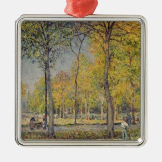 Ornement Carré Argenté Alfred Sisley | le Bois de Boulogne
