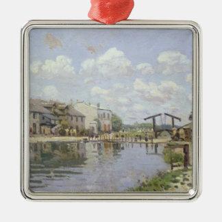 Ornement Carré Argenté Alfred Sisley | le canal St Martin, Paris