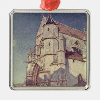 Ornement Carré Argenté Alfred Sisley | l'église chez Moret