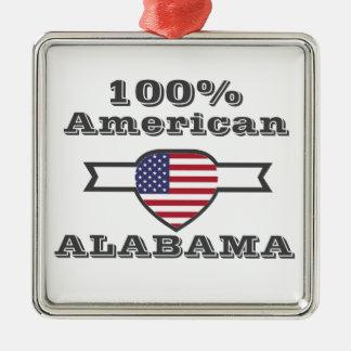 Ornement Carré Argenté Américain de 100%, Alabama