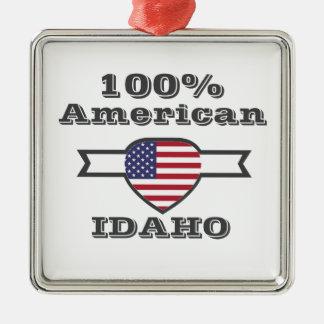 Ornement Carré Argenté Américain de 100%, Idaho