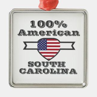 Ornement Carré Argenté Américain de 100%, la Caroline du Sud