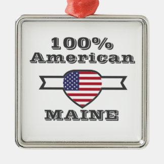 Ornement Carré Argenté Américain de 100%, Maine