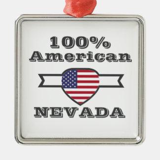 Ornement Carré Argenté Américain de 100%, Nevada
