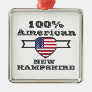 Ornement Carré Argenté Américain de 100%, New Hampshire