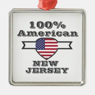 Ornement Carré Argenté Américain de 100%, New Jersey
