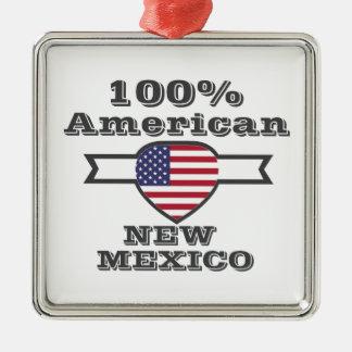 Ornement Carré Argenté Américain de 100%, Nouveau Mexique