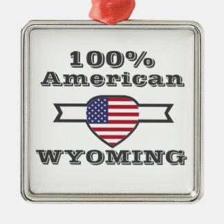 Ornement Carré Argenté Américain de 100%, Wyoming
