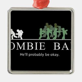 Ornement Carré Argenté amorce de zombi