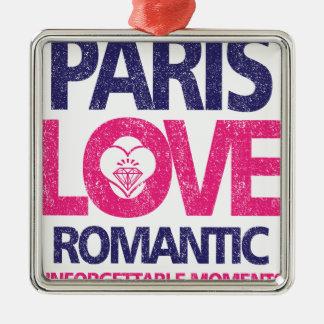 Ornement Carré Argenté amour de Paris