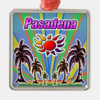 Ornement Carré Argenté Amour d'été de Pasadena