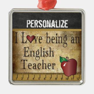 Ornement Carré Argenté Amour étant un cru du professeur d'Anglais |