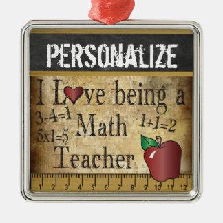 Ornement Carré Argenté Amour étant un cru du professeur de maths |