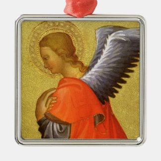 Ornement Carré Argenté Ange de la Renaissance par le maître du Bambino