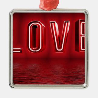 Ornement Carré Argenté Arrière - plan d'amour