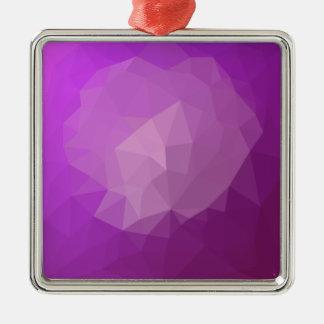 Ornement Carré Argenté Arrière - plan de polygone d'abrégé sur violette