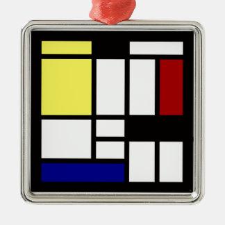 Ornement Carré Argenté Art carré moderne