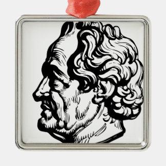 Ornement Carré Argenté Auteur allemand Goethe