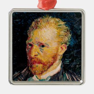 Ornement Carré Argenté Autoportrait de Vincent van Gogh |, 1887