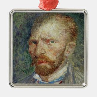 Ornement Carré Argenté Autoportrait de Vincent van Gogh  , 1887