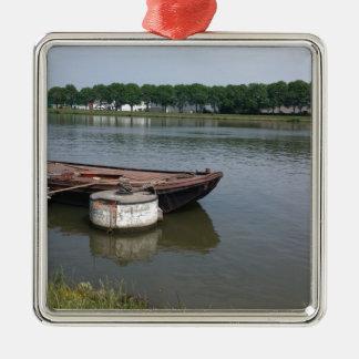 Ornement Carré Argenté balise nautique de bateau d'expédition, canal de
