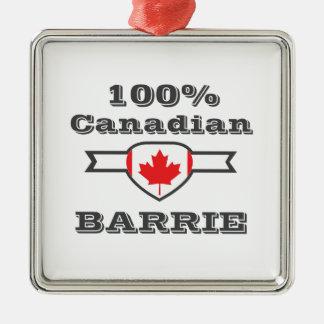 Ornement Carré Argenté Barrie 100%