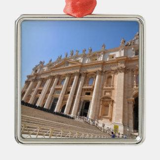 Ornement Carré Argenté Basilique de San Pietro à Vatican, Rome, Italie