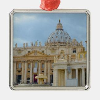 Ornement Carré Argenté Basilique Vatican de St Peters à Rome Italie