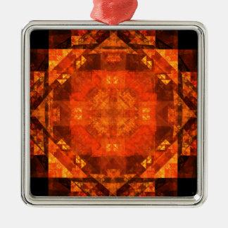 Ornement Carré Argenté Bénédiction du carré d'art abstrait