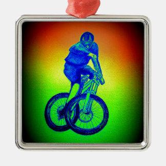 Ornement Carré Argenté Bmx de mtb de Llandegla de vélo de montagne
