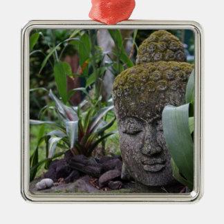 Ornement Carré Argenté Bouddha