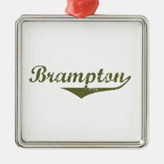 Ornement Carré Argenté Brampton