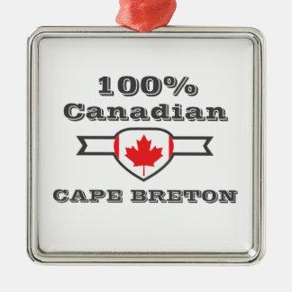 Ornement Carré Argenté Breton 100% de cap