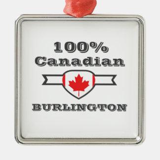 Ornement Carré Argenté Burlington 100%