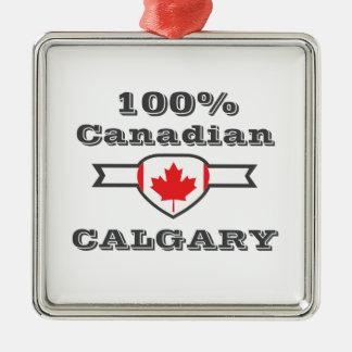Ornement Carré Argenté Calgary 100%