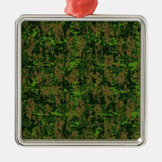 Ornement Carré Argenté Camouflage de Digitals de vert de style de région