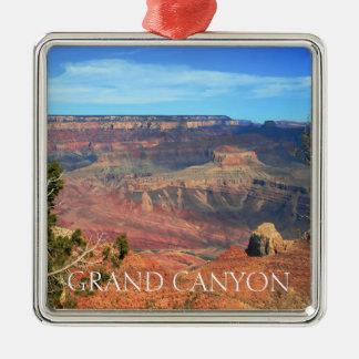 Ornement Carré Argenté Canyon grand 6