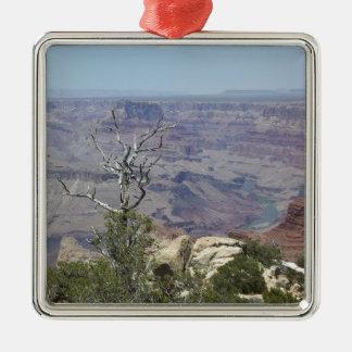 Ornement Carré Argenté Canyon grand Arizona
