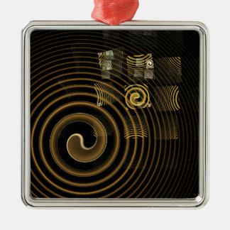 Ornement Carré Argenté Carré d'art abstrait d'hypnose