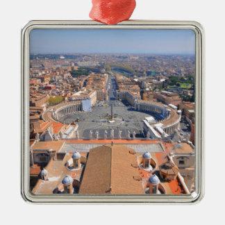 Ornement Carré Argenté Carré de St Peter à Vatican, Rome, Italie