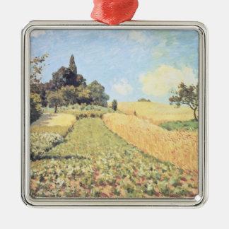Ornement Carré Argenté Champ de blé d'Alfred Sisley |