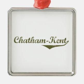 Ornement Carré Argenté Chatham-Kent