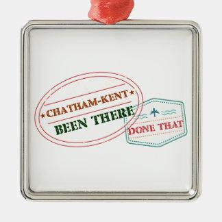 Ornement Carré Argenté Chatham-Kent là fait cela