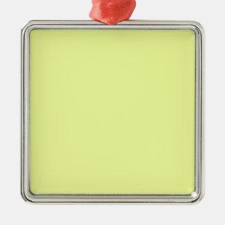 Ornement Carré Argenté citron de luis de couleur