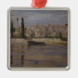 Ornement Carré Argenté Claude Monet | Carrieres-Saint-Denis, 1872