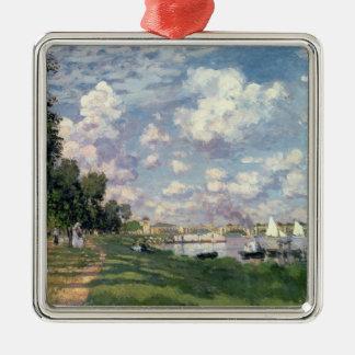 Ornement Carré Argenté Claude Monet | la marina à Argenteuil, 1872