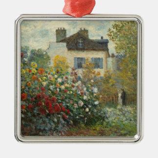 Ornement Carré Argenté Claude Monet | le jardin de l'artiste à Argenteuil