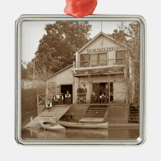 Ornement Carré Argenté club de rivière de Fox de club d'hommes de 1880's