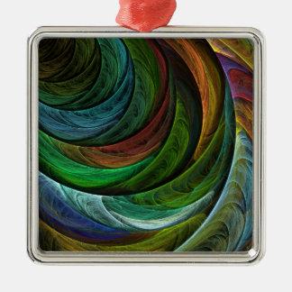 Ornement Carré Argenté Colorez le carré d'art abstrait de gloire