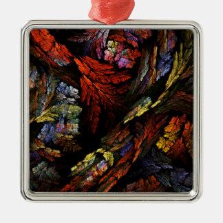 Ornement Carré Argenté Colorez le carré d'art abstrait d'harmonie